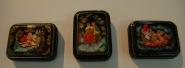 Шкатулки лаковая миниатюра