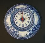Часы Гжельские узоры