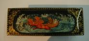Шкатулка Зима лаковая миниатюра